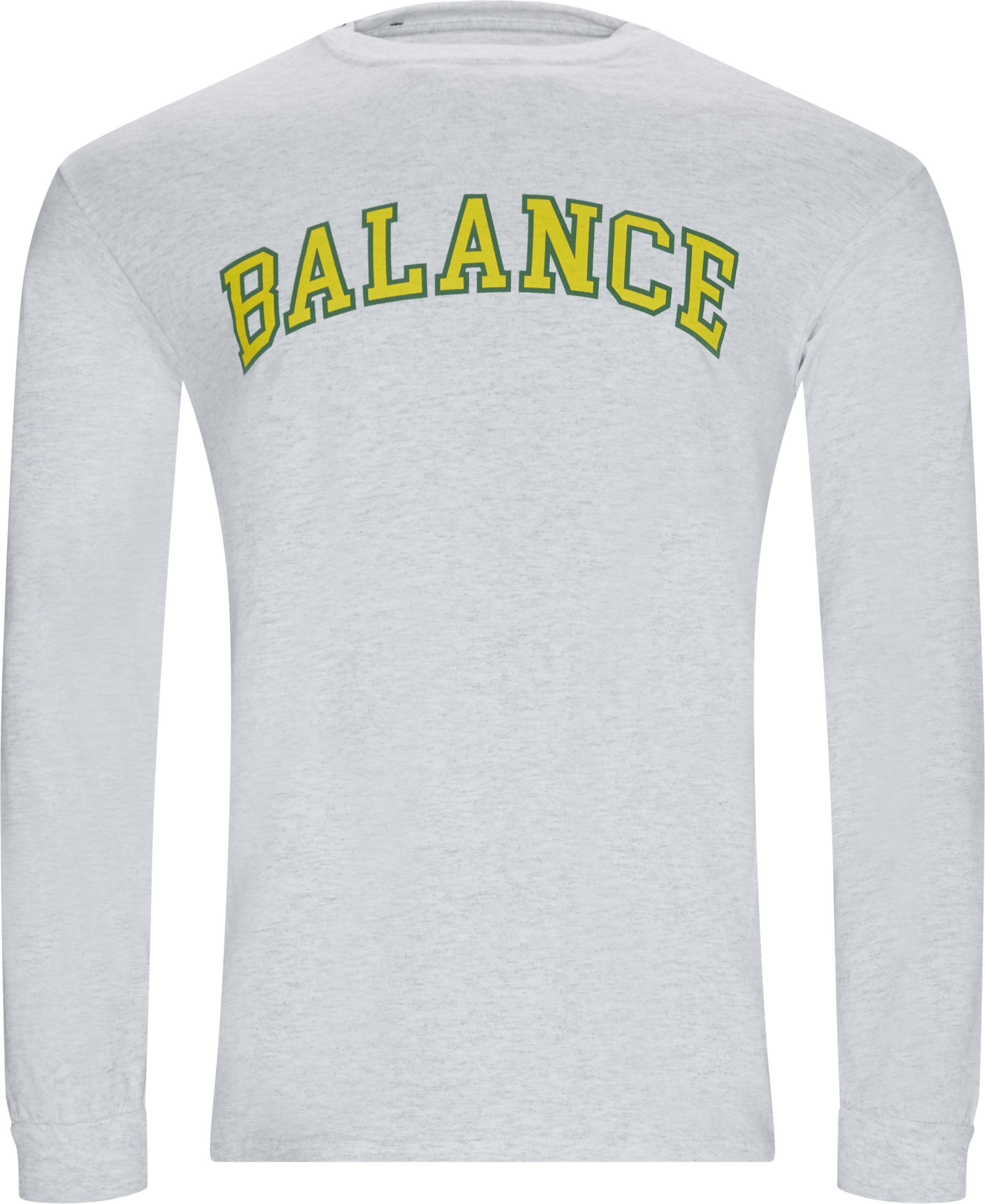 Balance Long Tee - T-shirts - Regular - Grå